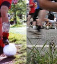 Fussball vs. Joggen