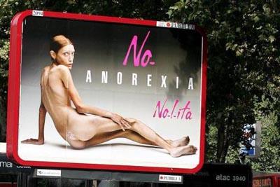 Werbekampagne mit Magermodel