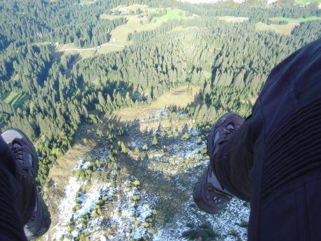 Paragliding Abheben